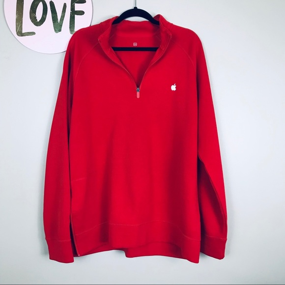 Other - Apple Red Halfzip Pullover - 2XL